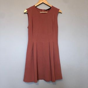 Dynamite Dusty Pink Short Sleeve A-line Dress